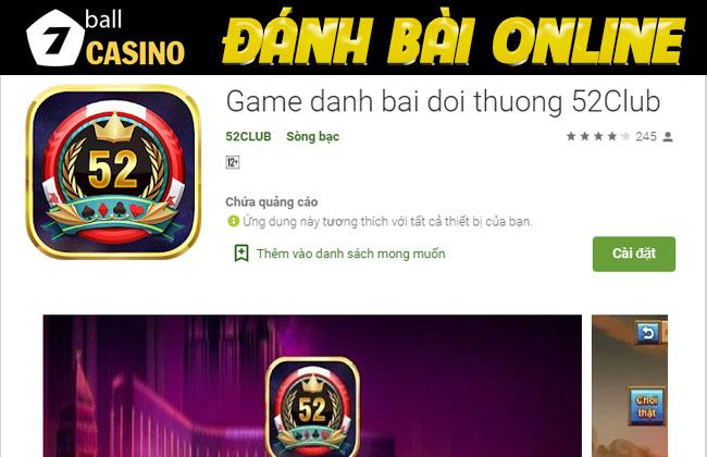 Tải game bài Vip 52 đổi thưởng