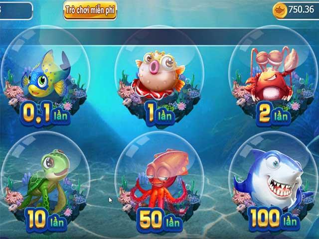 Bắn cá đổi thưởng cực lớn tại 7ball