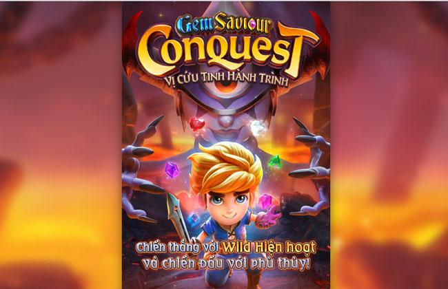 Slot Game có đồ họa bắt mắt Gem Saviour Conquest - Cuộc chinh phục đá quý
