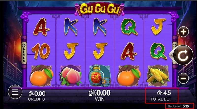 Bảng mức cược game Gu Gu Gu