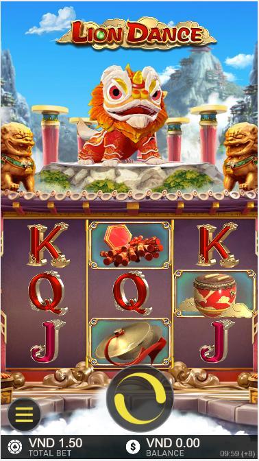 Giao diện trong game Múa Sư Tử - Lion Dance