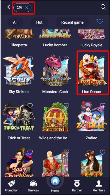 Tìm trò chơi Lion Dance - Múa sư tử trong sảnh GPI